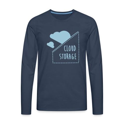 Cloud Storage - Männer Premium Langarmshirt