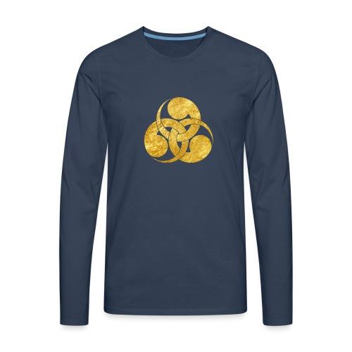 Tadpole Mon Japanese samurai clan - Men's Premium Longsleeve Shirt