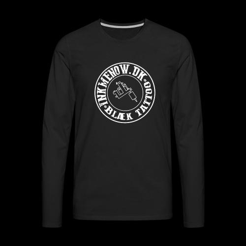 logo hvid png - Herre premium T-shirt med lange ærmer