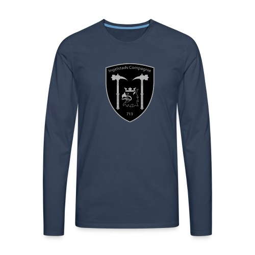 Kompanim rke 713 m nummer gray ai - Långärmad premium-T-shirt herr
