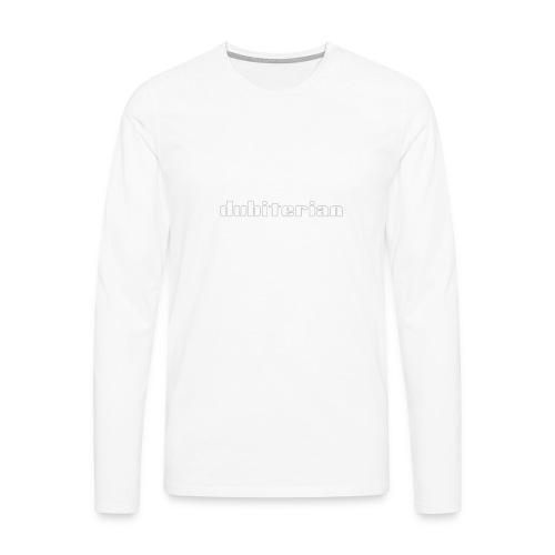 dubiterian1 gif - Men's Premium Longsleeve Shirt
