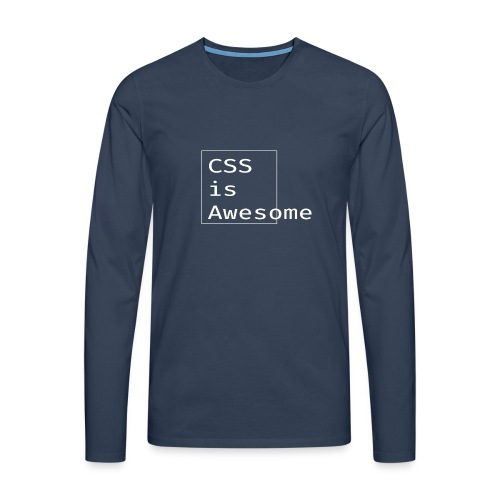 cssawesome - white - Mannen Premium shirt met lange mouwen