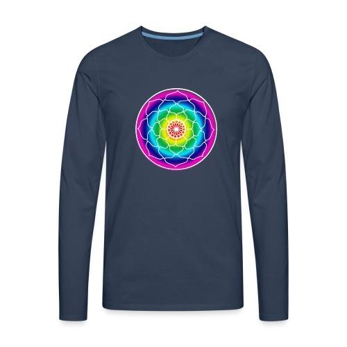 Rainbow Lotus Mandala - Men's Premium Longsleeve Shirt