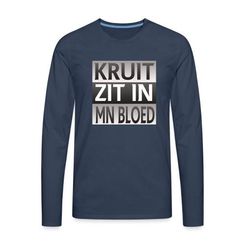 kruit_zit_in_mn_bloed - Mannen Premium shirt met lange mouwen
