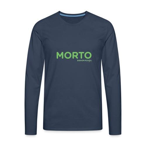 MORTO - Maglietta Premium a manica lunga da uomo