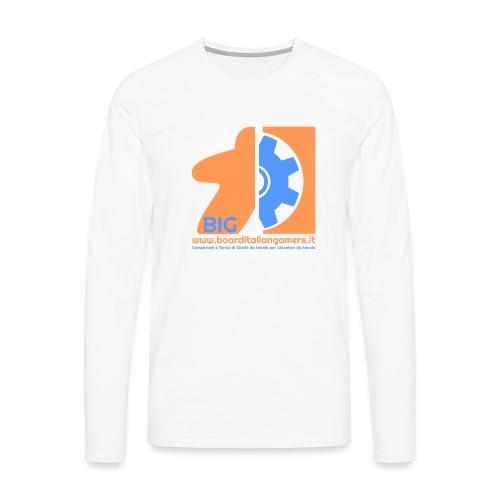 BIG - Maglietta Premium a manica lunga da uomo