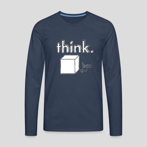 Think Outside The Box Illustration - Men's Premium Longsleeve Shirt