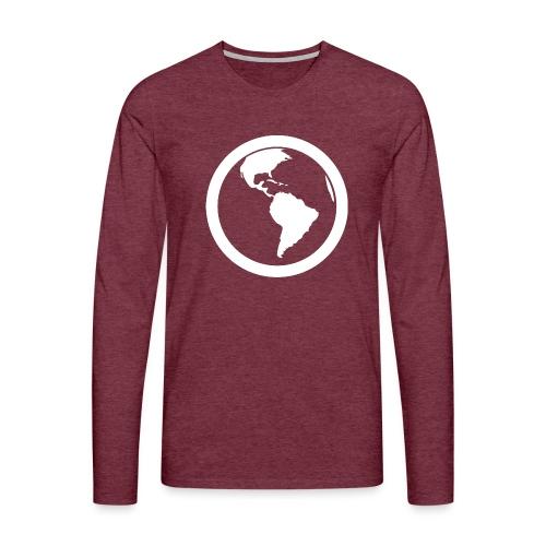 Earth - Maglietta Premium a manica lunga da uomo