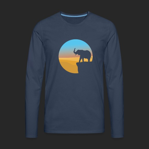 Sunset Elephant - Men's Premium Longsleeve Shirt