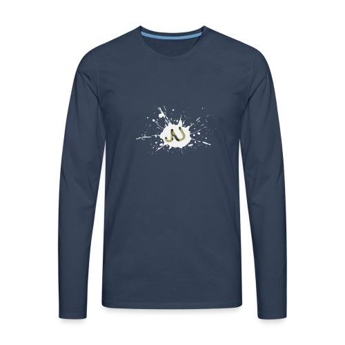 logo2 6 pinkki - Miesten premium pitkähihainen t-paita
