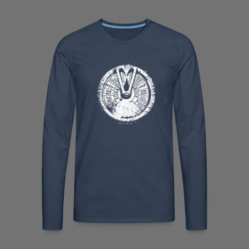 Maschinentelegraph (biały oldstyle) - Koszulka męska Premium z długim rękawem