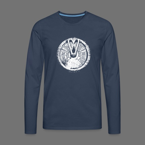 Maschinentelegraph (hvid oldstyle) - Herre premium T-shirt med lange ærmer