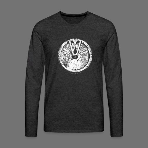 Maschinentelegraph (white oldstyle) - Miesten premium pitkähihainen t-paita