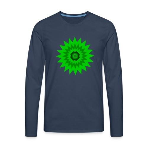 Grüne Sonne - Männer Premium Langarmshirt