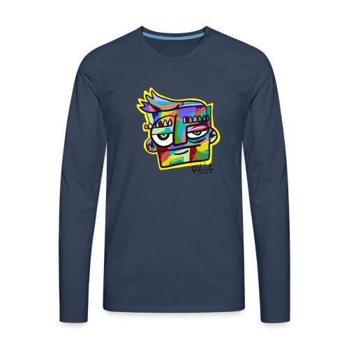 Rilla colour face - Mannen Premium shirt met lange mouwen