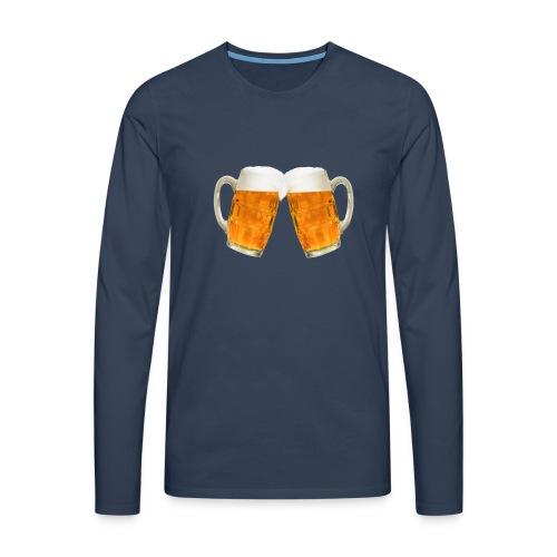 Zwei Bier - Männer Premium Langarmshirt
