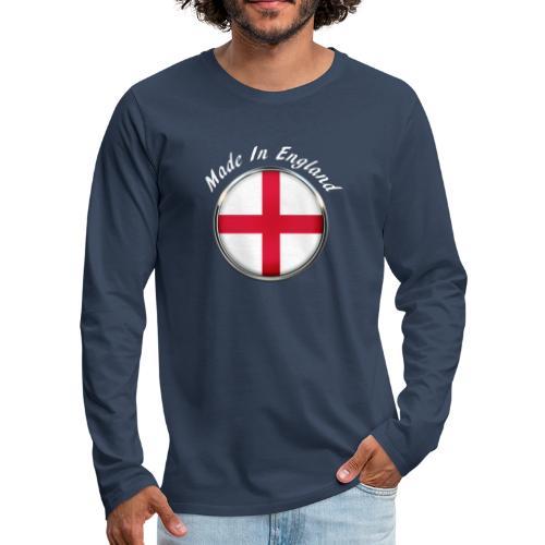 Made In England ( white text ) - Men's Premium Longsleeve Shirt