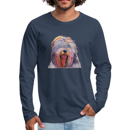 schapendoes - Herre premium T-shirt med lange ærmer