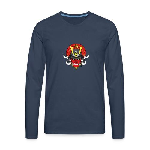 Samouraï Casque Démon - T-shirt manches longues Premium Homme