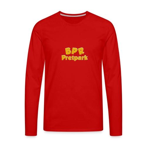 BPR Pretpark logo - Mannen Premium shirt met lange mouwen
