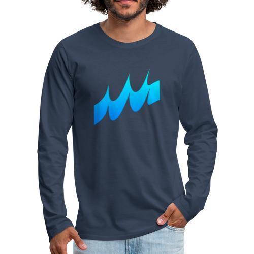 Ocean Waves or just Deep - Men's Premium Longsleeve Shirt
