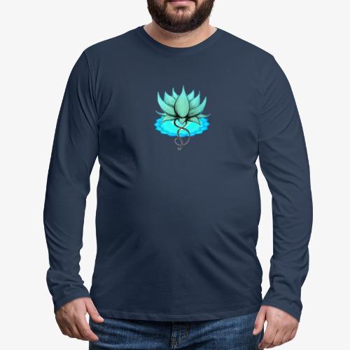 Lotus bleu chakra - T-shirt manches longues Premium Homme