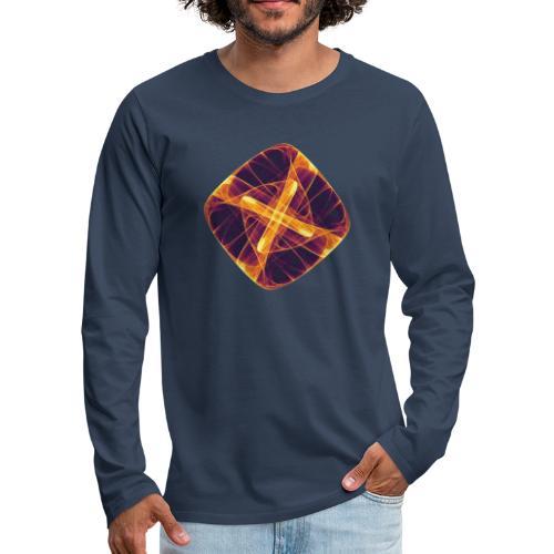Chakra Mandala Mantra OM Chaos Stern Kreis 12255i - Männer Premium Langarmshirt