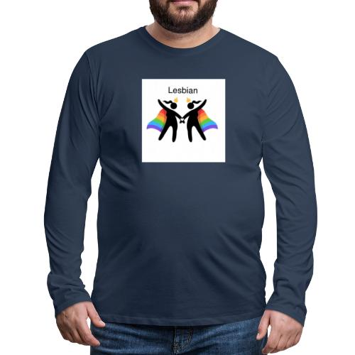 LGBT Lesbian - Herre premium T-shirt med lange ærmer