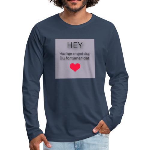 God dag - Herre premium T-shirt med lange ærmer