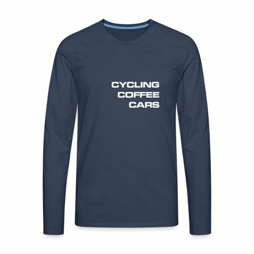 Cycling Cars & Coffee - Men's Premium Longsleeve Shirt