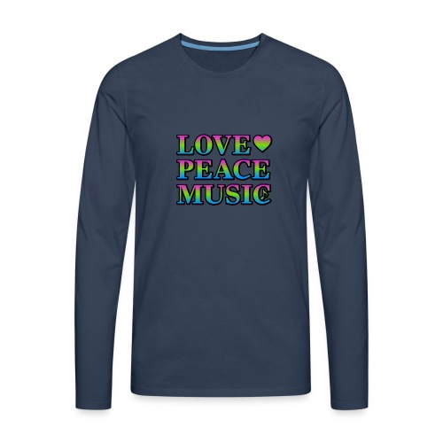 Love Peace Music - Men's Premium Longsleeve Shirt