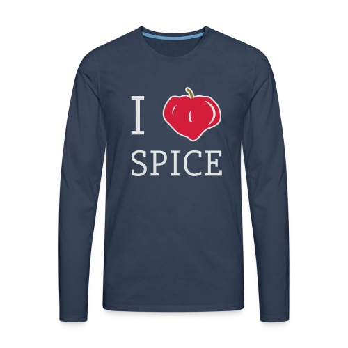 i_love_spice-eps - Miesten premium pitkähihainen t-paita