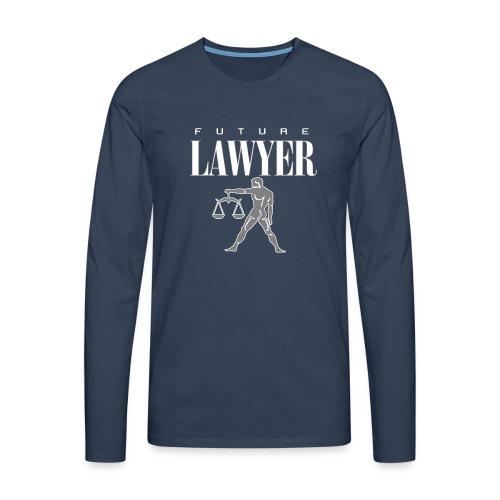 FUTURE LAWYER. Felpa Praticante Avvocato ottimista - Men's Premium Longsleeve Shirt