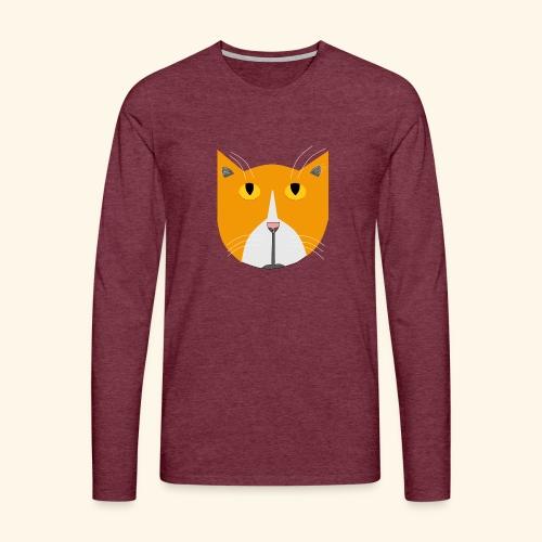 Hieno kissa - Miesten premium pitkähihainen t-paita