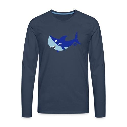 Shark - shark - shark (3 c) - Männer Premium Langarmshirt