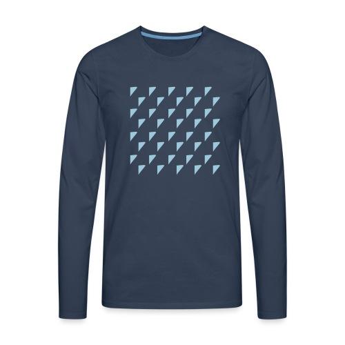 kussensloop driehoekjes - Mannen Premium shirt met lange mouwen