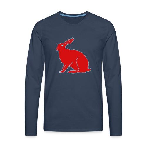 Roter Hase - Männer Premium Langarmshirt