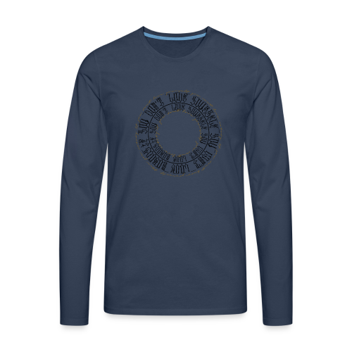 CALLIGRAPHY-CIRCLE - Maglietta Premium a manica lunga da uomo