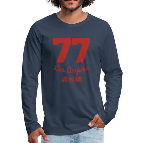77 los angeles - Männer Premium Langarmshirt