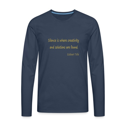 Silence and Creativity - Men's Premium Longsleeve Shirt