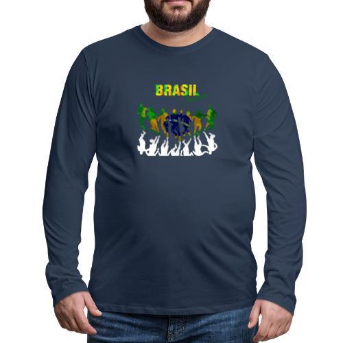 Brasil Soccer - Men's Premium Longsleeve Shirt