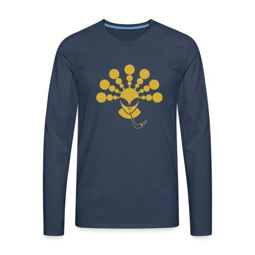 The Gold Smoking Alien - Men's Premium Longsleeve Shirt