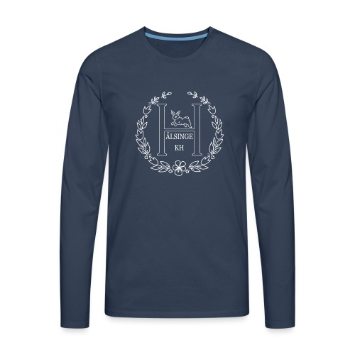 Hälsinge Kaninhoppare - Långärmad premium-T-shirt herr