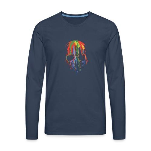 Skull and Colours - Camiseta de manga larga premium hombre