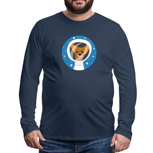 Fifi der Hunde Astronaut im Weltall - Männer Premium Langarmshirt