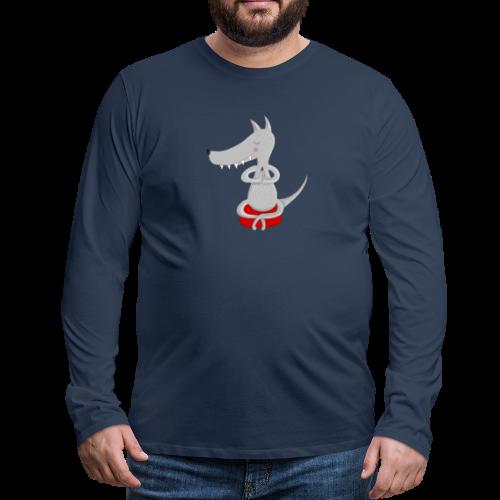 Wolf in tiefer Meditation - Männer Premium Langarmshirt