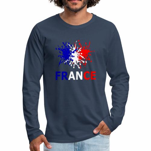 France - red white blue - Men's Premium Longsleeve Shirt