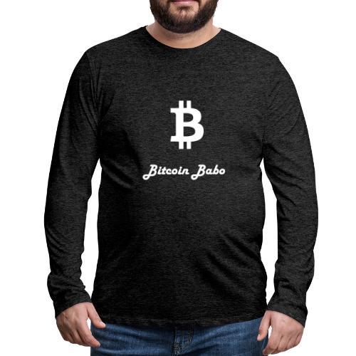 Bitcoin Babo - Männer Premium Langarmshirt