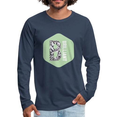 B brilliant green - Mannen Premium shirt met lange mouwen