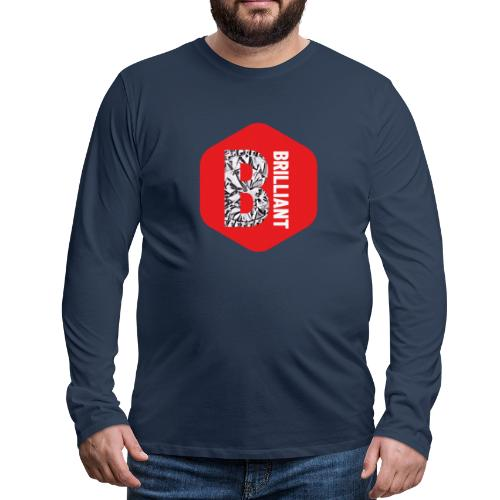 B brilliant red - Mannen Premium shirt met lange mouwen